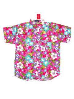 Camisas de Manga Corta - Camisa de hombre de manga CMEK21 - Modelo Rosa