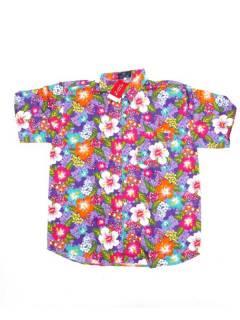 Camisas de Manga Corta - Camisa de hombre de manga CMEK21 - Modelo Morado