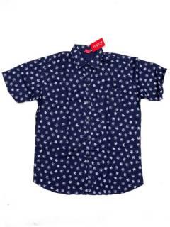 Camisas de Manga Corta - Camisa de hombre de manga CMEK22 - Modelo Azul m