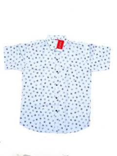Camisas de Manga Corta - Camisa de hombre de manga CMEK22 - Modelo Azul c