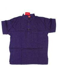 Camisas Hippies M Corta - Camisa 100% algodón CMEV03 - Modelo Morado