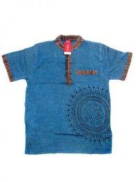 Camisa 100% algodón Mod Azul