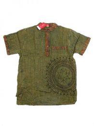 Camisa 100% algodón Mod Verde