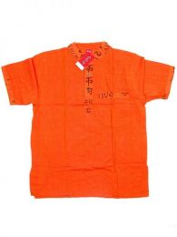 Camisas Hippies M Corta - Camisa de algodón de CMEV07 - Modelo Naranja