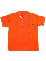 Camisa de algodón de Mod Naranja
