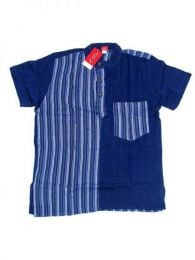 Hippies M Short Shirts - Combined cotton shirt CMEV08 - Model Blue os