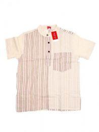 Camisa de algodón combinado Mod Natural 18
