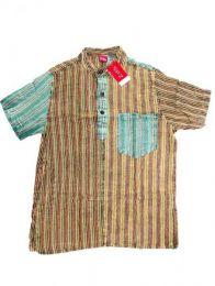 Camisa de rayas patchwork Mod Verde