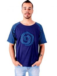 T-Shirt CMEV12 Spiral Striped da acquistare all'ingrosso o dettaglio nella categoria Hippie Clothing for Men.