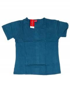 Camisetas Blusas y Tops - Camiseta de manga corta básica CMEV14 - Modelo Azul