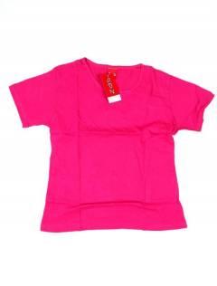 Camisetas Blusas y Tops - Camiseta de manga corta básica CMEV14 - Modelo Rosa