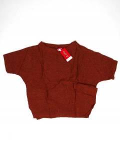 Camisetas Blusas y Tops - Camisa camisa amplina de media CMEV16 - Modelo Teja