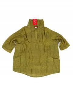 Camisa lisa con cuello pico y bolsillos, para comprar al por mayor o detalle  en la categoría de Accesorios de Moda Hippie Bohemia | ZAS.[CMEV17]