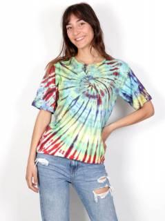 Camiseta Tie Dye Mujer, para comprar al por mayor o detalle  en la categoría de Decoración Étnica Alternativa. Incienso y Expositores | ZAS Tienda Hippie.[CMHC11]