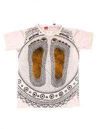 Camiseta Mirror, algodón Mod Crema