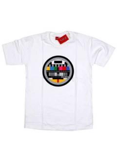Camisetas T-Shirts - Camiseta Carta de Ajuste, CMSE02 - Modelo Blanco