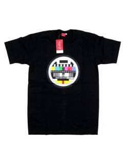 Camisetas T-Shirts - Camiseta Carta de Ajuste, CMSE02 - Modelo Negro