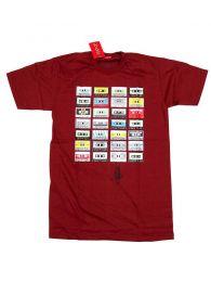 Camiseta Cassettes retro algodón, Mod Granate