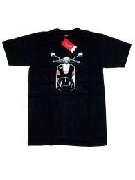 Camisetas T-Shirts - Camiseta moto Vespa frontal. CMSE05 - Modelo Negro