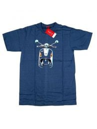 Vespa motorcycle t-shirt front. CMSE05 to buy in bulk or detail in the Alternative Ethnic Hippie Outlet category.