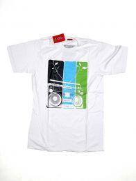 Camisetas T shirts - Radio cassete, camiseta algodón CMSE12 - Modelo Blanco