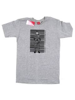 T-Shirts - Barcode, short sleeve T-shirt CMSE22 - Gray Model