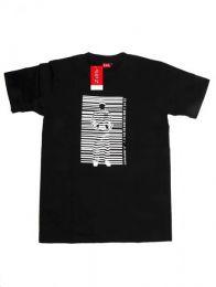 Barcode, camiseta manga corta Mod Negro