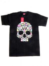 Camiseta calavera music box. Mod Negro