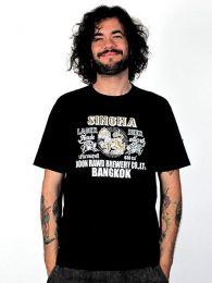 Camiseta Shingha beer, de algodón y manga corta CMSE35 para comprar al por mayor o detalle  en la categoría de Outlet Hippie Étnico Alternativo.
