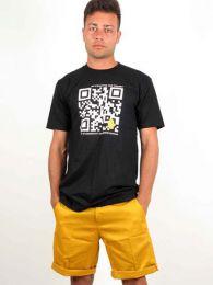camiseta qr bitcoin trust. detalle del producto