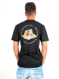 camiseta bitcoin war resistance. detalle del producto
