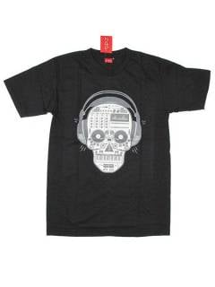 T-Shirts T-Shirts - Music Fanatic Skull T-Shirt [CMSE47] para compra no atacado ou detalhe na categoria de Hippie Clothing for Men.
