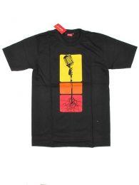 Microphone Roots T-Shirt, um Großhandel oder Detail in der Kategorie Alternative Ethnic Hippie Outlet | zu kaufen ZAS Hippie Store. [CMSE52]