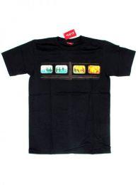 Camiseta de manga corta de Mod Negro