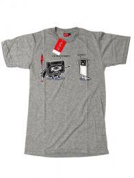 Camiseta de manga corta de Mod Gris