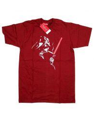 Camisetas T shirts - Camiseta Star War, Darth Vader CMSE68 - Modelo Granate