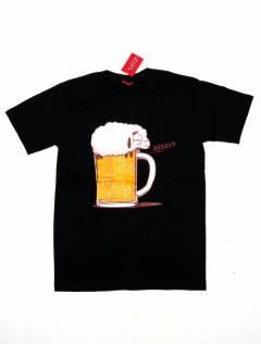 Camisetas T-Shirts - Camiseta manga corta Beer CMSE79 - Modelo Negro