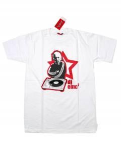 Camisetas T-Shirts - Camiseta manga corta Einstein CMSE82 - Modelo Blanco