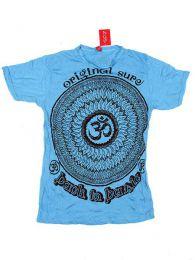 camiseta 100% algodón Mod Azul