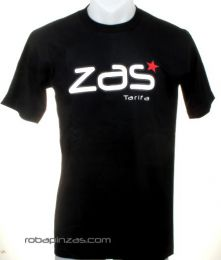 Camisetas T shirts - ZAS camiseta manga corta algodón CMZ10 - Modelo Negro