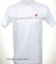 Camisetas T shirts - Robapinzas.com, camiseta algodón CMZ11 - Modelo Blanco