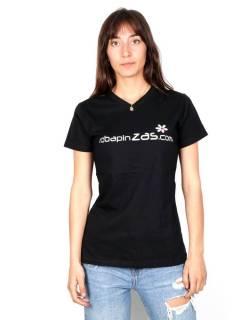Robapinzas flor, camiseta algodón m corta cuello pico CMZ13 para comprar al por mayor o detalle  en la categoría de Outlet Hippie Étnico Alternativo.