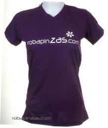 Robapinzas flor, camiseta Mod Morado