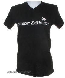 Robapinzas flor, camiseta Mod Negro
