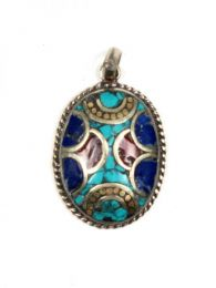TIibetan stone pendant, to buy wholesale or detail in the Alternative Ethnic Decoration category. Incense and Displays | ZAS Hippie Store. [COAT01]