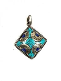 TIibetan stones pendant [COAT01]. Tibetan Jewelry to buy wholesale or detail in the Alternative Ethnic Hippie Jewelry and Silver category | ZAS Online Store.