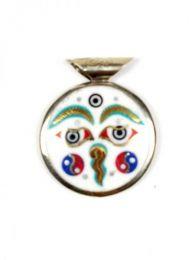 Bisutería Tibetana - Colgante Ojo de budha en una COAT02.