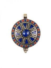 Bisutería Tibetana - Colgante tIibetano piedras [COAT05] para comprar al por mayor o detalle  en la categoría de Bisutería Hippie Étnica Alternativa.