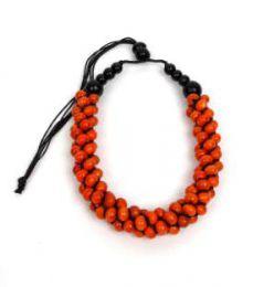 Collar multicolor, bolas de Mod Naranja