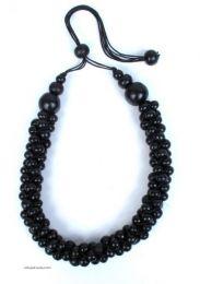 Collar multicolor, bolas de Mod Negro